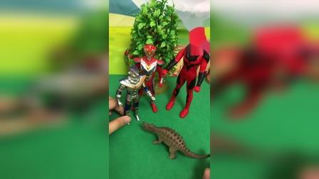 星球大战开始了,恐龙召唤更多的奥特曼帮忙