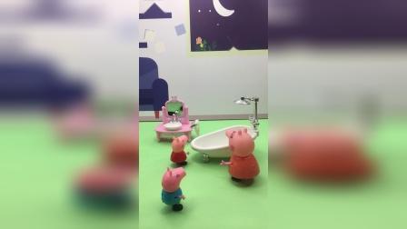 乔治不爱洗澡,猪妈妈教育了乔治!