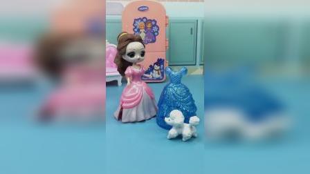贝儿拿走了白雪的裙子,白雪很伤心,她还能参加舞会吗?