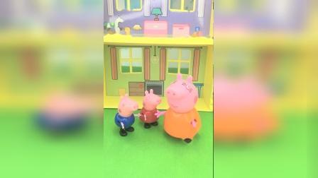 乔治答应猪妈妈一起去野餐,不料出尔反尔