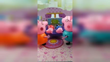 猪妈妈猪爸爸叫佩奇乔治起床,小朋友们喜欢谁呢