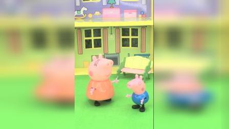 猪妈妈耐心教育乔治,在学校要好好学习