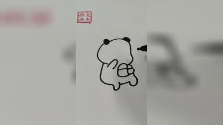 小熊猫在吃什么呢