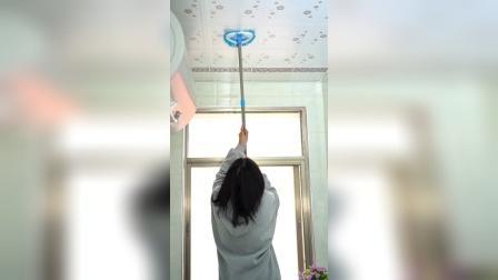 有了这个迷你伸缩拖把打扫房屋,头顶橱柜都容易清理