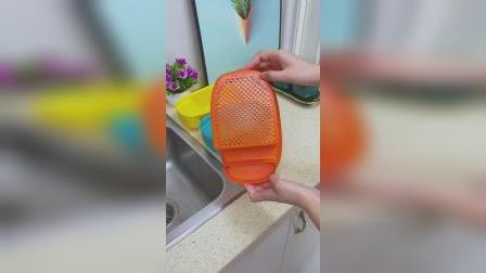 这个沥水篮,3秒轻松解决饭菜残渣