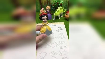 白雪公主来教我们画母鸡