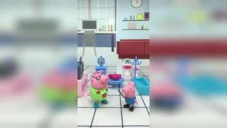 乔治说,他和猪爸爸,是两个笨蛋