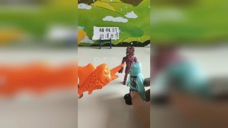 两个坏蛋打劫一条鱼,不料被揍了