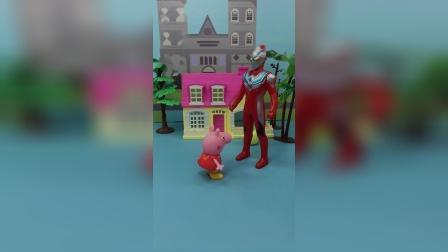 僵尸要抓苏西,佩奇带奥特曼来救苏西