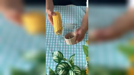 开箱:剥玉米神器,颗粒完整,方便又省力