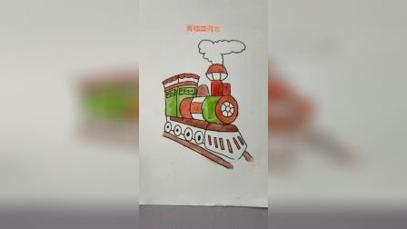 简笔画列车