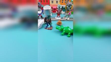 鳄鱼找到一些吃的,被乔治它们给拿走了,僵尸除外