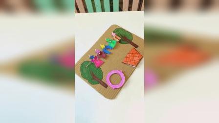用纸片让孩子模拟洗衣服的全过程