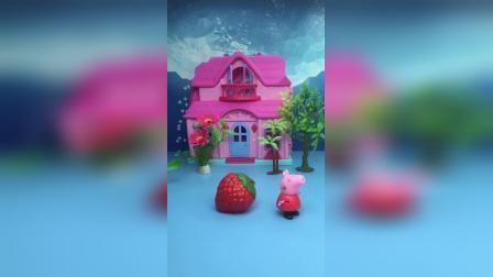 僵尸要去抓小朋友,佩奇把僵尸变成草莓