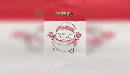 简笔画圣诞小鸡