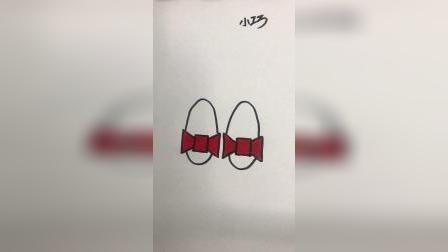 教你简单画一双漂亮的拖鞋