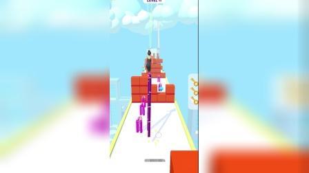 欢乐小游戏:向着独木桥出发!