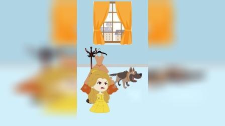 小狗咬坏了母后裙子,母后冤枉白雪,贝儿替白雪伸冤