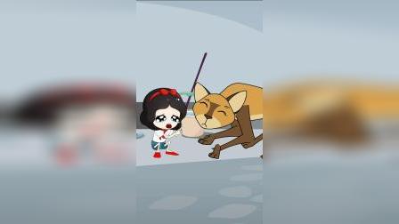 白雪贪吃巧克力变小了,她要阻止贝儿,贝儿会相信吗
