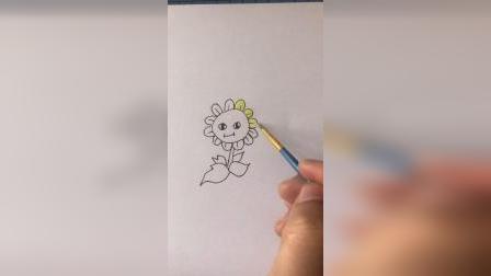 简笔画太阳花
