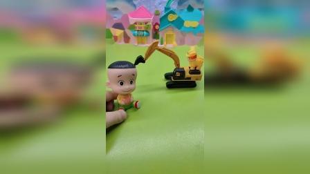 少儿玩具:大头欺负乔治喝完小立