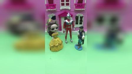 贝儿和王子去找奥特曼,奥特曼答应救白雪!