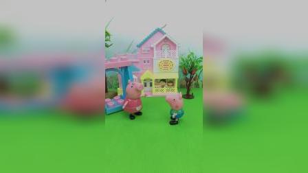 乔治偷偷跑回来,告诉妈妈爸爸的秘密,就是为了棒棒糖