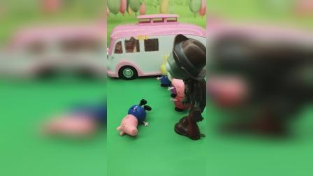 僵尸乱插队,奥特曼帮乔治教训了僵尸