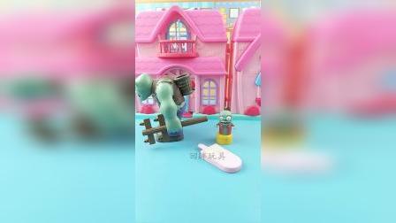 小鬼想吃雪糕,巨人僵尸买回来以后,小鬼送给了奥特曼