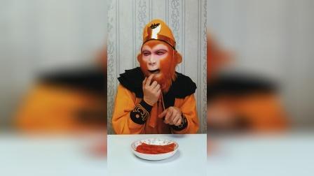 猴哥吃辣皮 猴妈来捣乱