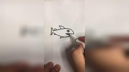 画一条凶猛的鲨鱼