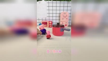 童年趣事:救命啊!猪爷爷,猪妈妈又要打乔治了。