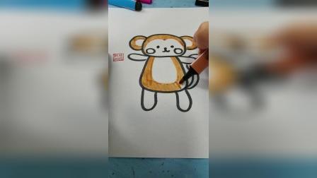 画一只可爱的小猴子