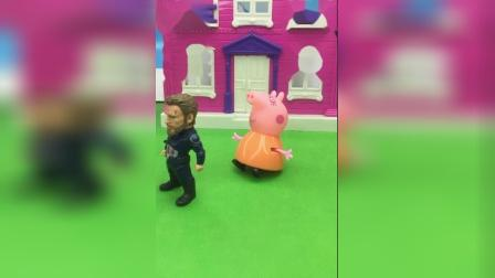 猪妈妈让大怪兽放开佩奇乔治,猪妈妈教育大怪兽,猪妈妈错怪大怪兽!