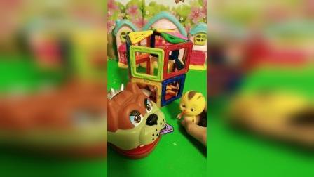少儿玩具:我要赶快给妈妈盖个房子
