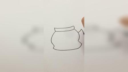 请你喝咖啡#简笔画