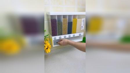 挂墙上的五谷杂粮收纳盒,确实方便,防尘防潮,取物最方便壁挂式