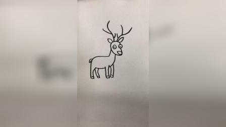 画一只可爱的麋鹿