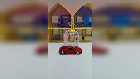 卡牌后面居然藏着一辆保时捷超跑玩具车