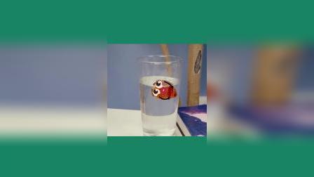 表情动画,草莓被扔进杯子里了