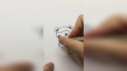 可爱小猴子#简笔画