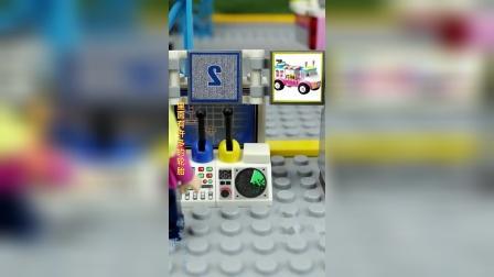 小女孩用电脑操控机器,改造冰激凌车子