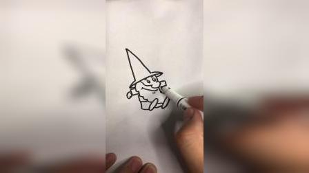 画一个小矮人老头