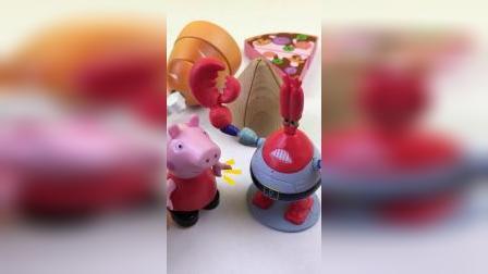 小猪佩奇切水果,蟹老板切鸡腿玩具