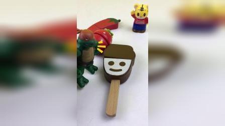 忍者神龟切水果,切辣椒玩具