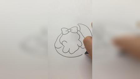 画一只月兔#简笔画