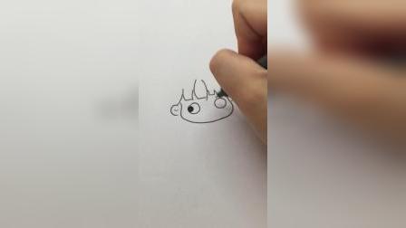 画一个生气的小姐姐#简笔画