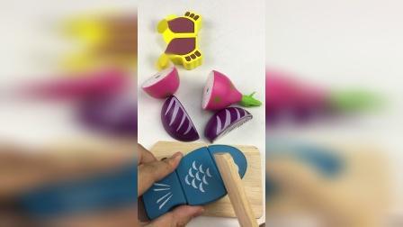 今天一起来切火龙果和紫甘蓝玩具