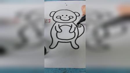 一只胖胖的小猴子
