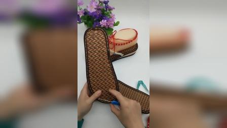 玲儿手工编织坊第五十七集两色珍珠夹趾凉鞋教程(下)